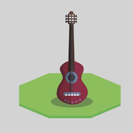 Vector of a guitar