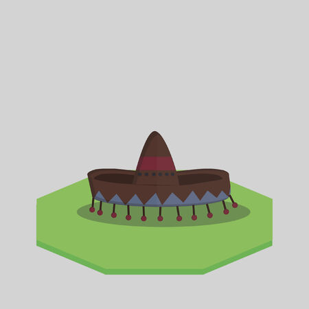 Vector of a traditional Mexican hat