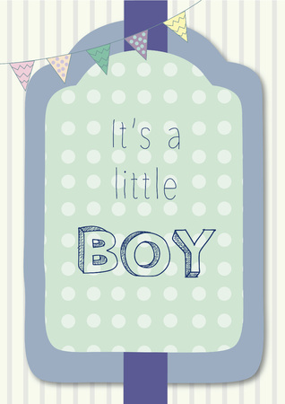 小さな男の子だと言ってテキストとベクトル  イラスト・ベクター素材
