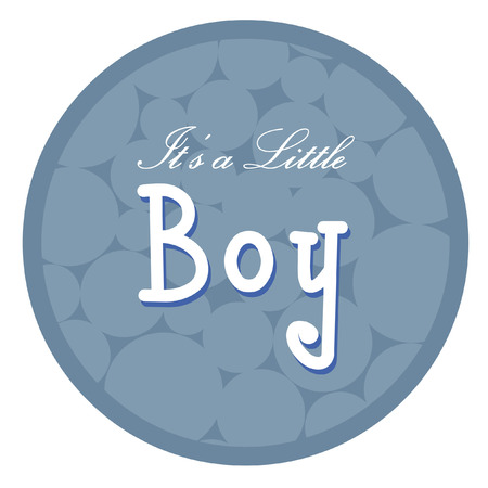 Vector with text saying its a little boy Illustration