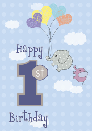 Birthday card 向量圖像