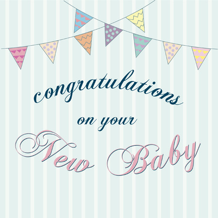 Vector with text saying congratulations on your new baby