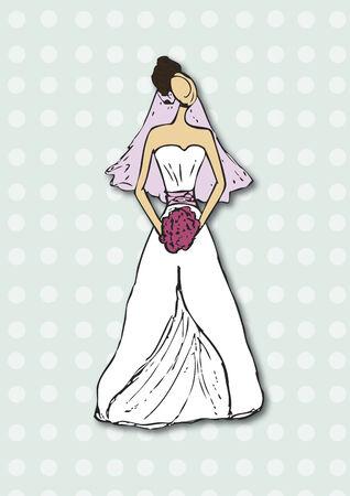Woman in a wedding dress Фото со стока - 31522826