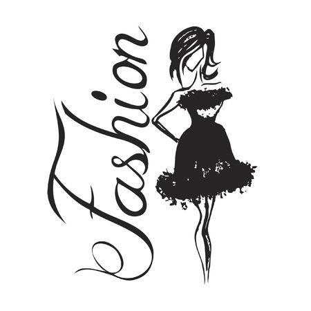Vector with text saying fashion