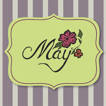 Vector with text saying May Illustration