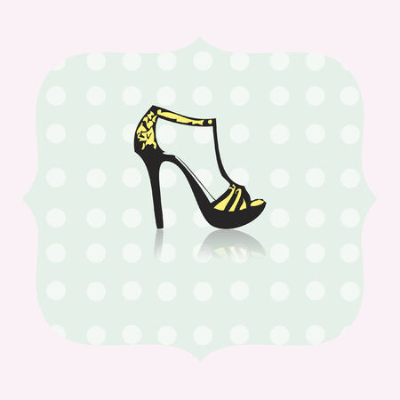 high: High heels Illustration