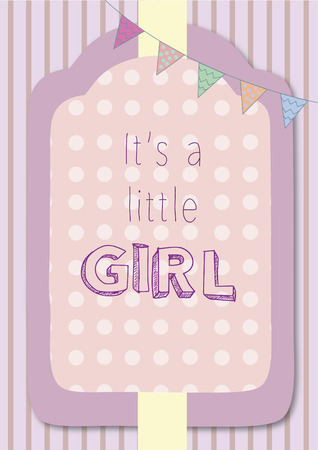 Vector with text saying its a little girl