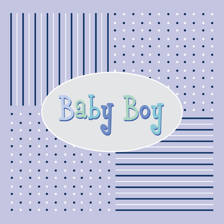 Vector with text saying baby boy