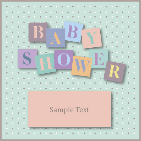 Vector with text saying baby shower Illustration