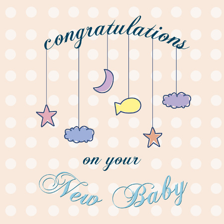 Vector with text saying congratulations on your new baby Stok Fotoğraf - 31523953