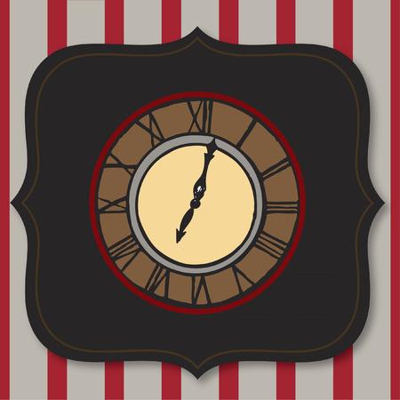 Classic clock Illustration