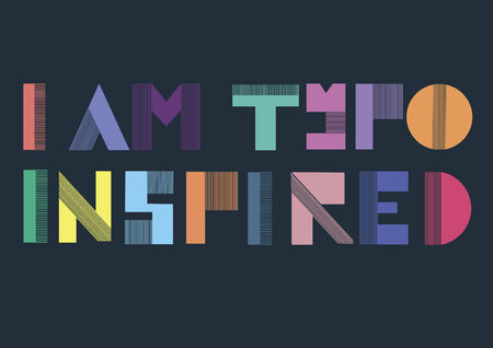 typo: Vector with text saying I am typo inspired