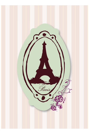 Vector of Eiffel Tower Ilustrace