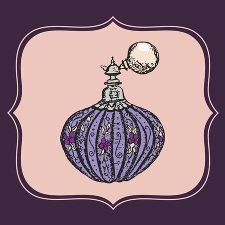 Bottle of perfume Vector