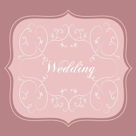 Wedding card Фото со стока - 31525226