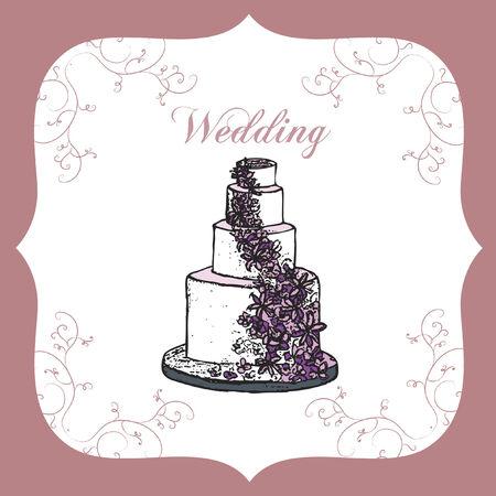 Wedding card Фото со стока - 31525228