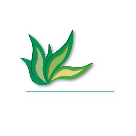 葉は、コピー スペース デザインのインスピレーション