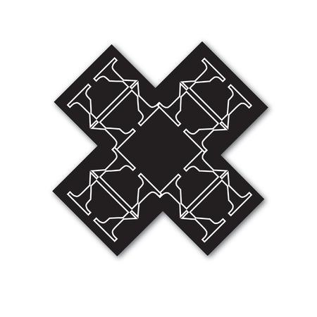 上品なタイポグラフィのデザイン  イラスト・ベクター素材