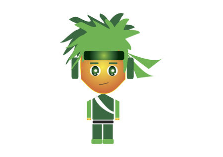 Ninja character isolated on white background Vector