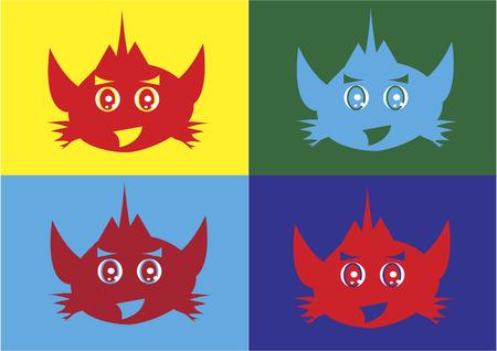 Iconos de caracteres Robot Foto de archivo - 31796097