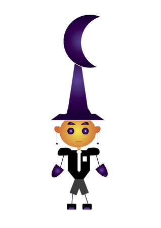 Wizard character isolated on white background