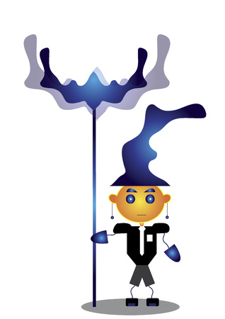 Wizard character with staff