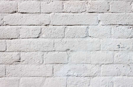 Sharpen texture of a white brick wall Stock Photo