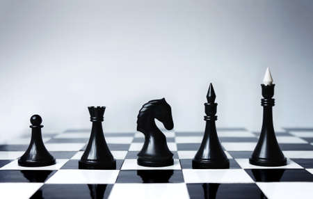 Career Opportunities presented in chess pieces on board.