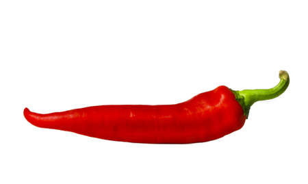 Red chili pepper isolated on white Stock Photo
