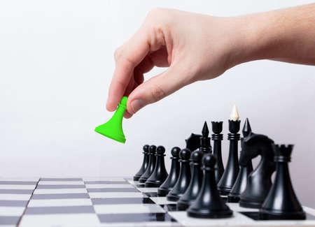 first step: Man macht ersten Schritt im Schach