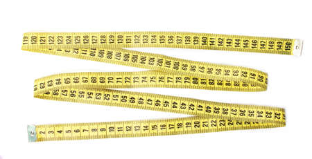 measuring tape in zigzag shape isolated