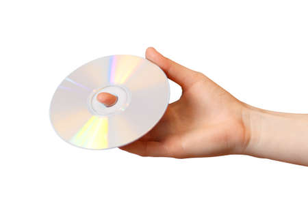 Woman holds a CD in her hand