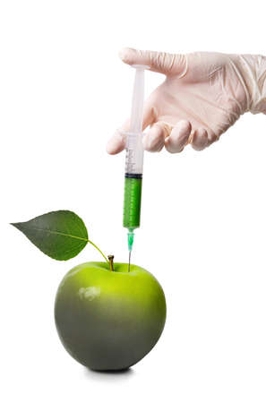 bad apple: GMO Injection in a rotten apple