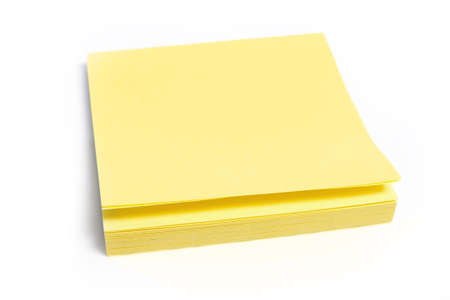 pack of yellow memo stickers