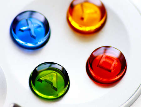 Game controller buttons macro shot photo