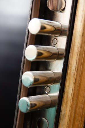 lock up: Cylender hard lock close up Stock Photo