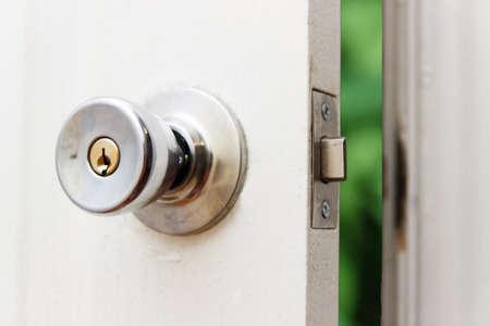 opened Door with green background