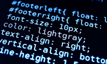 program code: Program code on a monitor