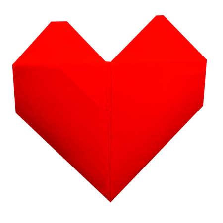 Paper heart Stock Photo