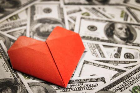 heart on dollars