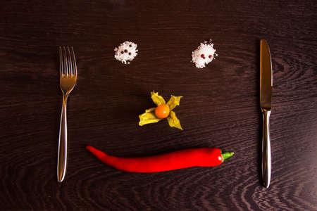 concept smile pepper Stock Photo