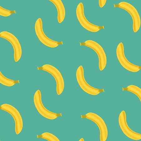 Banana Pattern Texture Editable Vector Illustration Imagens - 115545049