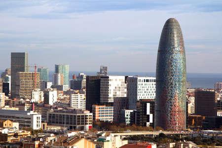 Torre Agbar  Agbar Tower , Barcelona, Spain Stock Photo - 14238247