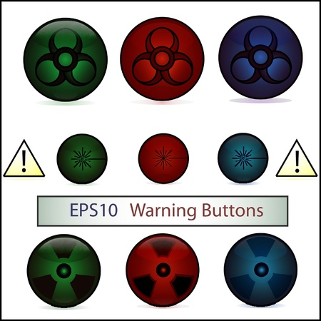 Elements of Warning  Buttons Stock Vector - 16098785