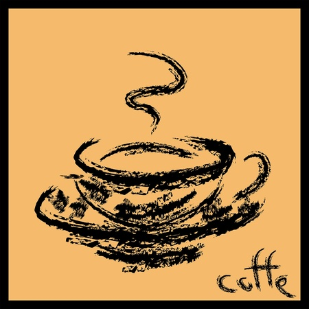 coffe: Cup of hot coffe Illustration