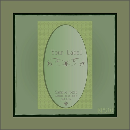 Cute vintage soap or parfume label frame Vector