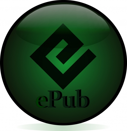 Epub button.  image for your website Stock Vector - 16401002