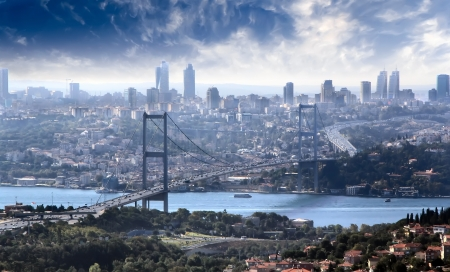 cape mode: Br�cke �ber den Bosporus, Istanbul Lizenzfreie Bilder