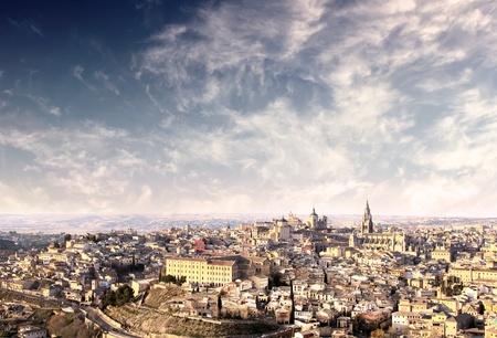 Panorama of ancient city of Toledo photo