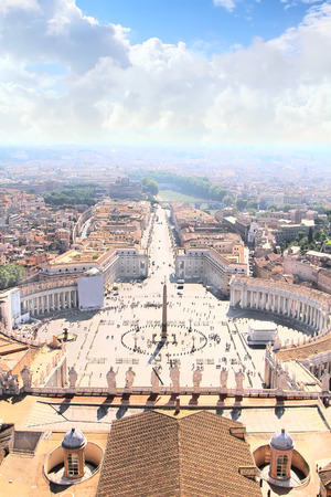 st peter s square: Panorama of Rome with a Saint Peters Square